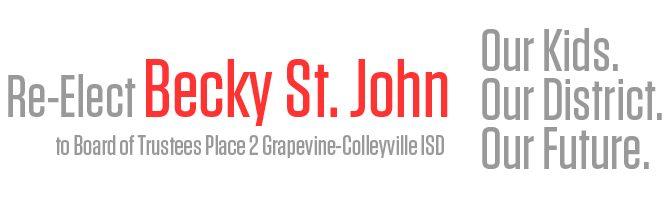 Re-Elect Becky St. John